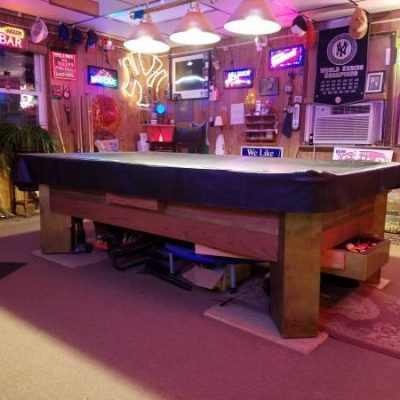 Antique Over Size Pool Table