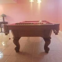 8 Foot Slate Pool Table