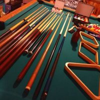 8Ft Slate Pool Table And Accessories